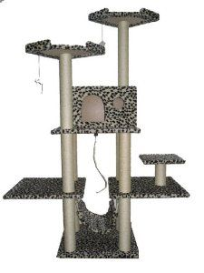 "This Brand New 70"" Cat Condo Tree Scratching Post is the best you can get in the market and at the same time will not cost you a fortune. We are confident about the quality of this cat tree."