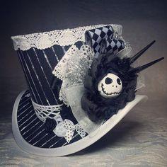 Gothic hat, Steampunk Hat, Mini Top Hat, Gothic Lolita, Tea Party, Top hat…