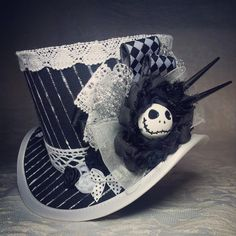"4"" top hat - Steampunk Nightmare Before Christmas by OohLaLaBoudoir, FABULOUS!!"
