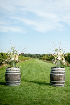 Saltwater Farm Vineyard Wedding  Read more - http://www.stylemepretty.com/connecticut-weddings/stonington/2014/01/10/saltwater-farm-vineyard-wedding/