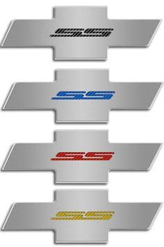 Camaro SS Hood Badge Emblem for Factory Pad - Choose Inlay Color