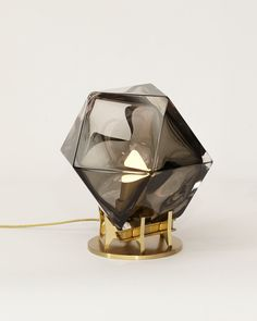 Welles Double Blown Glass Desk Lamp by Gabriel Scott This mix of func.