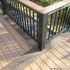 For a truly one-of-a-kind custom look, consider choosing a deck design that includes two or three color tones. | Deck Railing Ideas | more at archadeckwestcounty.com