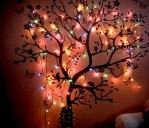 Inspiring image bedroom, lights, tree, wall #270348. Resolution: 500x375px. Find the image to your taste!
