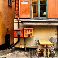 Even small neighborhood elements in Stockholm, #Sweden can have a quirky edge.    Photo courtesy of bumbyfoto on Instagram