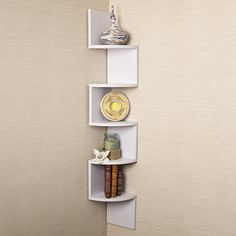 DanyaB Corner Zig Zag Wall Shelf & Reviews | Wayfair