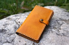 British tan Leather billfold wallet for women by GalenLeather, $39.00