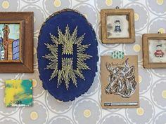 Turn a wooden plaque into modern art! More DIY Dorm Room Decor & Decorating Ideas >> http://www.hgtv.com/design/make-and-celebrate/handmade/33-diy-dorm-room-ideas-pictures?soc=pinterest