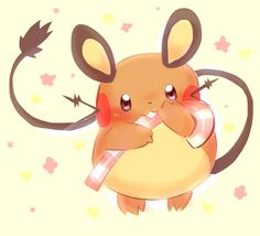 Dedenne is ready for the holidays! Christmas Pokemon art