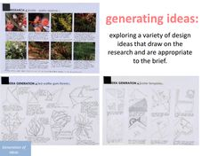 Ideas generation stage of design process / Top Designs 2013 http://museumvictoria.com.au/pages/16580/topdesigns2013vcaa-vcdpresentation.pdf