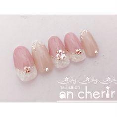 ピンク - in 2020 Pretty Nail Designs, Simple Nail Designs, Nail Art Designs, Cute Nail Art, Cute Nails, Pretty Nails, Japan Nail, Korean Nails, Different Nail Designs