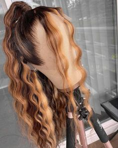 Lux Hair, Curly Hair Styles, Natural Hair Styles, Baddie Hairstyles, Peruvian Hair, Aesthetic Hair, Lace Front Wigs, Lace Wigs, Ombre Hair