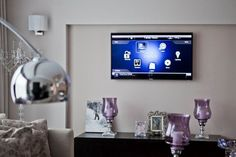 Terrific install by Nirvana AV: Control4 smart home control UI on a flat screen. http://bit.ly/Axs238