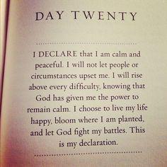 """Day #20: Joel Osteen - """"I Declare"""""""