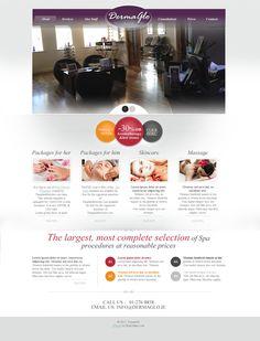 Beauty Spa Website Design by Steven Dorman, via Behance Spa Website, Website Ideas, Beauty Web, Email Newsletter Design, Web Design, Behance, Skin Care, Templates, Design Web
