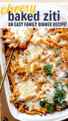 Pasta, Baked Ziti, School Lunch, Tex Mex, Baking, Recipes, School Lunch Food, Bakken, Recipies