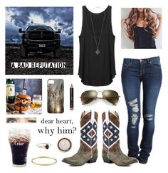 A fashion look from April 2016 featuring shirt top, gold bangle bracelet and ring. Browse and shop related looks. Country Girl Outfits, Cute Cowgirl Outfits, Country Girl Style, Cute N Country, Camo Outfits, Country Fashion, Western Outfits, Fashion Outfits, My Style