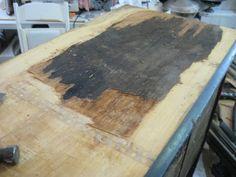 Removing Veneer or Laminate from Antique Furniture Tutorial ...