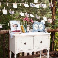 Beautiful DIY Shabby Chic Photo Display