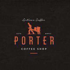 Porter coffee shop logo design