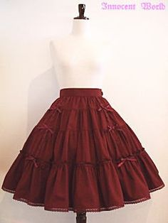 Innocent World / Skirt / Ribbon Tiered Skirt