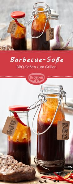 Barbecue sauce: BBQ sauces for barbecue # barbecue sauce - Rezepte zur Grillparty - Food Barbecue Sauce Recipe Molasses, Honey Barbecue Sauce, Barbecue Sauce Recipes, Barbecue Ribs, Pulled Pork Recipes, Spicy Recipes, Bbq Sauces, Chutneys, Whole 30