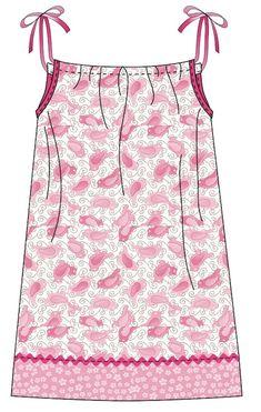 Pillowcase dress DIY - use fabric, not an existing pillowcase!