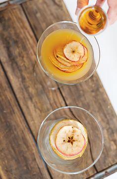 Bourbon apple chip cider