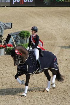 And the world record-breaking Charlotte Dujardin enjoys her lap of honour!  Horse  Hound