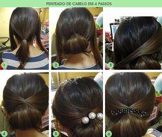 penteado fácil de cabelo em 4 passos