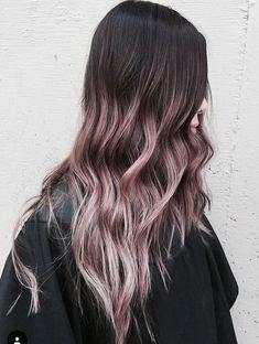 Image result for black hair lavender ombre