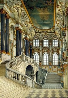 The Winter Palace, St. Petersburg was  the least favorite palace of Alexander III and his son Nikolay II ~