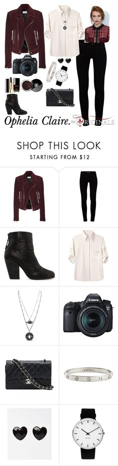 """Ophelia Claire."" by thatnellegirl on Polyvore featuring Balenciaga, J Brand, rag & bone, Eos, Chanel, Cartier and Rosendahl"