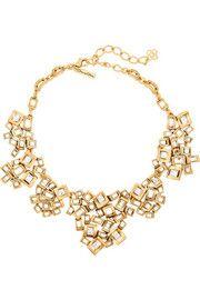 Oscar de la RentaGold-plated crystal necklace