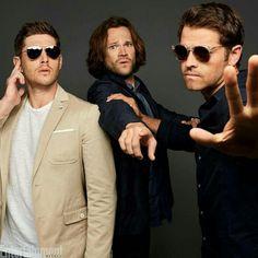 Jensen Ackles, Jared Padalecki, and Misha Collins #SPNFamily