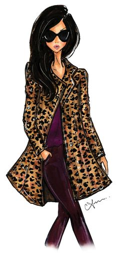 Anum Tariq Illustrations - Leather Weather 2014 - Macy's Fashion Rocks Event