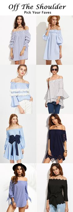 Off The Shoulder Dress And Blouse