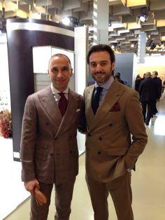 Dejan Vasic & Riccardo Maria Angelo Viganò @ Pitti Uomo 85 - RMAV - #rmav #pitti #pittiuomo #firenze #florence #italianstyle #style #doublebreasted #solaro #fashion #sprezzatura #gentleman #fashionweek #outfit #dandy #tailoring #bespoke