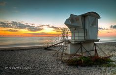 Sunrise - Vero Beach, Florida www.rscottduncan.com Vero Beach Fl, Treasure Coast, Beach Town, Lifeguard, Sunrises, Metal Art, Great Places, Tower, Florida