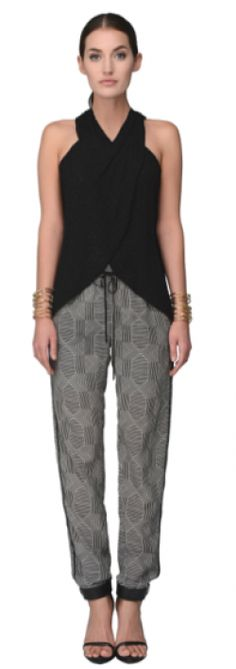GREYLIN PERCH SILK TRACK PANTS