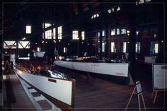 Inside the Yacht House, you will find a collection of antique wooden boats on display – courtesy of the  Antique Boat Museum located in Clayton NY.  Some of the boats on display are from the original Boldt fleet.  The intricately-designed service bay features custom-crafted steel trusses, mechanical over-head traveling cranes, screw jacks and more.
