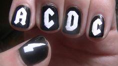AC/DC nail art