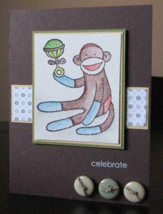 Sock Monkey Gift Card Holder - Boy