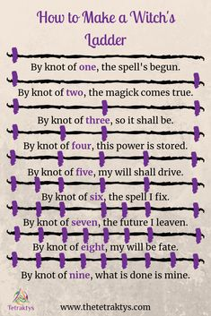Beltane Witch's Ladder spell ritual pagan wicca knot magick incantation book of shadows occult solitary witch Here's a simple Beltane ritual for solitary witches. Learn how to make a witch's ladder and cast it using the magick of Beltane.