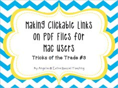 Making Clickable Links in PDF Files for MAC users