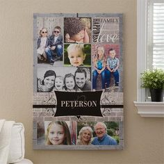 Gift Idea: Personalized Photo Collage Canvas Art