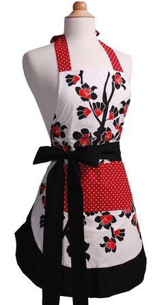 Flirty Aprons Women's Apron Original Cherry Blossom