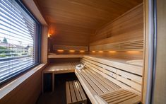 Interiér sauny Klafs v přístavbě domu Blinds, Curtains, House, Home Decor, Decoration Home, Home, Room Decor, Shades Blinds, Blind
