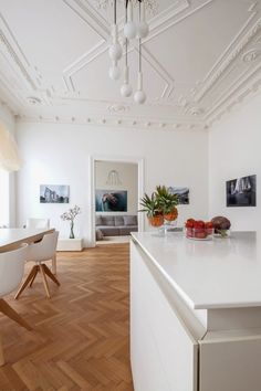 Classic Viennese Apartment Given a Modern Renovation - Design Milk Küchen Design, House Design, Interior Styling, Interior Decorating, Contemporary Interior, Apartment Decoration, Sweet Home, Dream Decor, Style At Home