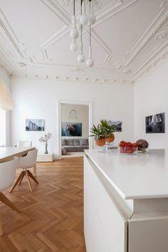 Classic Viennese Apartment Given a Modern Renovation - Design Milk Estilo Interior, Interior Styling, Interior Decorating, Interior Architecture, Interior And Exterior, Contemporary Interior, Dream Decor, Home Fashion, Interior Inspiration
